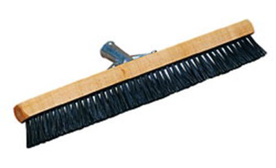 "Carlisle 3629703 18"" Pile Brush - Nylon/Wood, Black"