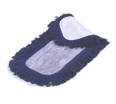 "Carlisle 363313614 36"" Dry Mop Pad - Electrostatic, Looped Fringe, Blue"