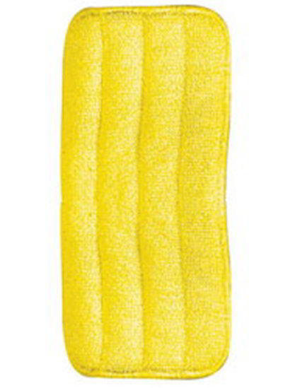 "Carlisle 363322404 24"" Wet/Dry Mop Pad - Looped End Microfiber, Yellow"