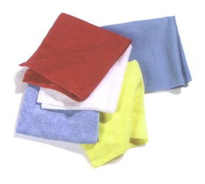 "Carlisle 3633314 16"" Square Fine Polishing Cloth - Microfiber, Suede Finish, Blue"