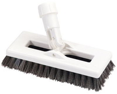 "Carlisle 363883103 8"" Swivel Scrub Floor Brush - Poly, Black"