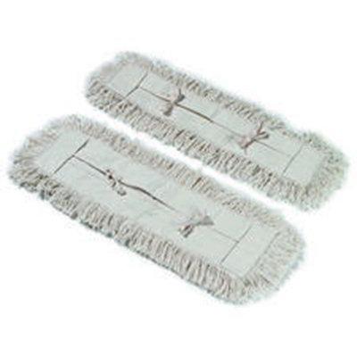 """Carlisle 364732400 24"""" Oblong Dust Mop - Tie Back, Cotton, Tan"""