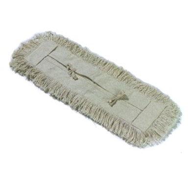 "Carlisle 364754800 48"" Dust Mop Refill - Full Tie Back, Cotton Yarn"