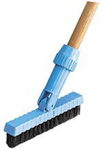 "Carlisle 36532003 7-1/2"" Grout Line Brush Head - Nylon, Black"