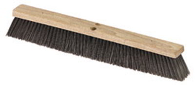 "Carlisle 36622403 24"" Floor Sweep - Fine/Medium, Hardwood Block, Black"