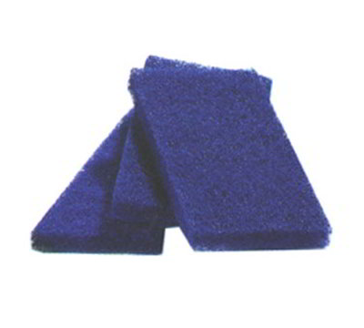 Carlisle 3675400 Pot & Pad Scrubber, 3-1/2 x 5 x 1/2-in, Blue