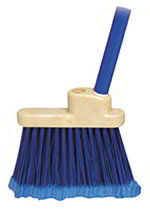 "Carlisle 3685914 30"" Lobby Broom - Black Metal Handle, Polypropylene, Blue"