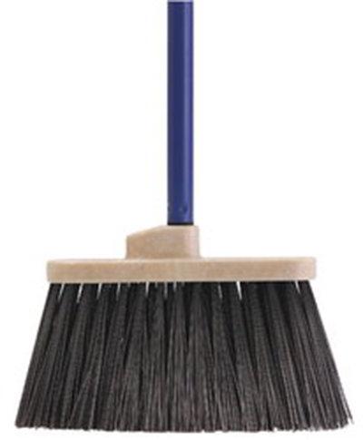 "Carlisle 3686003 30"" Lobby Broom - Metal Threaded Handle, Synthetic Bristles, Black"