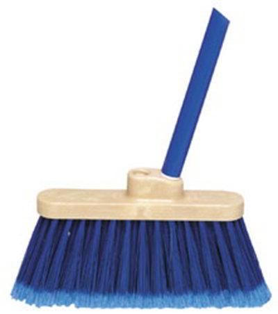 "Carlisle 3686314 48"" Light Industrial Broom - Metal Handle, Blue"