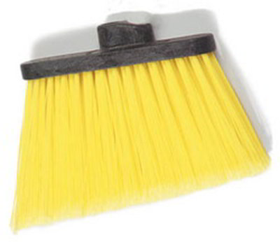 "Carlisle 3686704 12"" Angle Broom Head - Flagged Bristles, Polypropylene, Yellow"