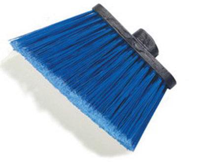 "Carlisle 3686714 12"" Angle Broom Head - Flagged Bristles, Polypropylene, Blue"