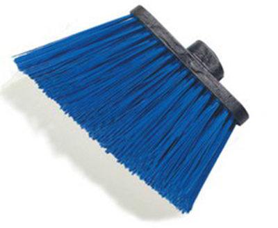 """Carlisle 3686814 12"""" Angle Broom Head - Upright Handle Hole, Polypropylene, Blue"""