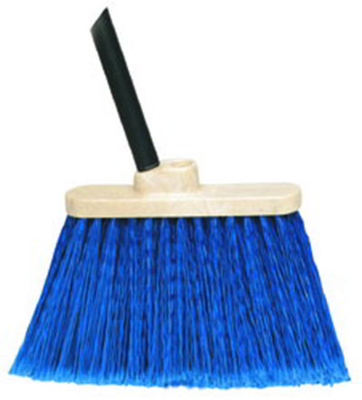 "Carlisle 3688314 13"" Warehouse Broom - 48"" Blue Metal Handle, Flagged Bristles, Blue"