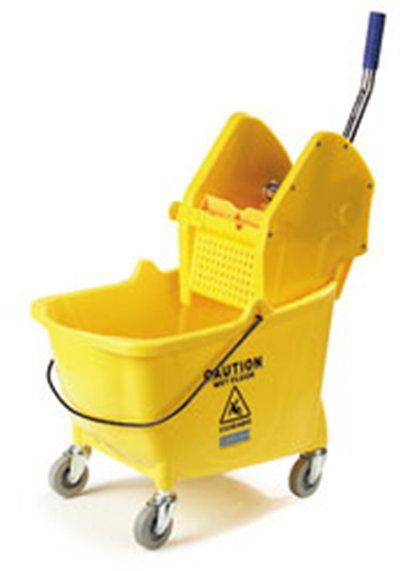 Carlisle 3690504 26/35-qt Mop Bucket/Wringer - Polyethylene, Yellow