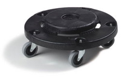 "Carlisle 3691003 Flo-Pac Container Dolly - 6x17-3/4"" Polyethylene, Black"