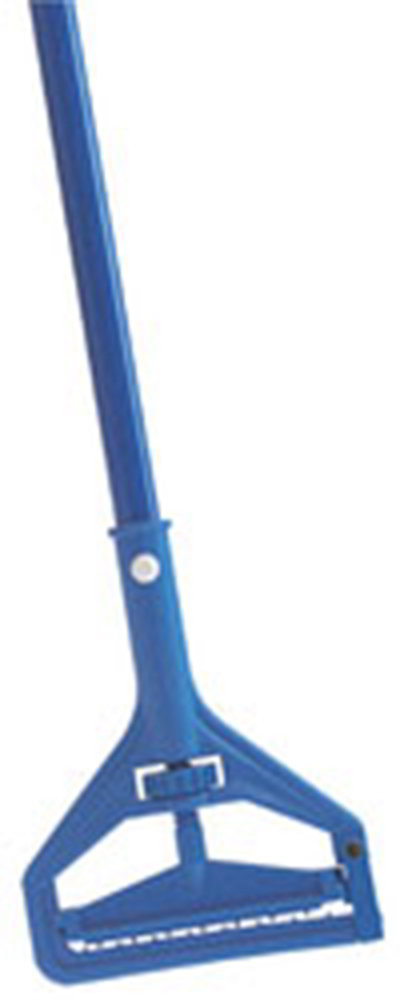 "Carlisle 36937500 60"" Quick-Change Mop Handle - Plastic/Fiberglass, Blue"