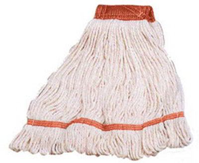 Carlisle 369424B00 Wet Mop Head - 4-Ply, Synthetic/Cotton Yarn, Red/White