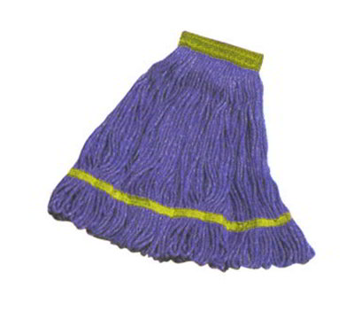 Carlisle 369442B14 Wet Mop Head - 4-Ply, Synthetic/Cotton Yarn, Yellow/Blue