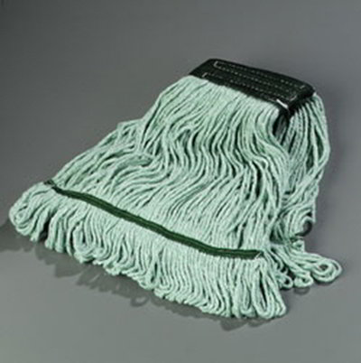 Carlisle 369478B09 Wet Mop Head - 4-Ply, Synthetic/Cotton Yarn, Green