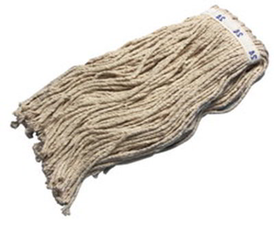 Carlisle 36972400 Wet Mop Head - #24, 8-Ply, Cut-End, Natural Cotton Yarn