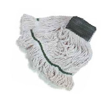Carlisle 369811B00 Wet Mop Head - #16, 4-Ply, Cut-End, White Cotton Yarn
