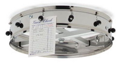 "Carlisle 3812CH 14"" Order Wheel - Ceiling-Mount, Stainless"
