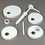 Carlisle 38310 Standard Pump Kit - Plastic, White