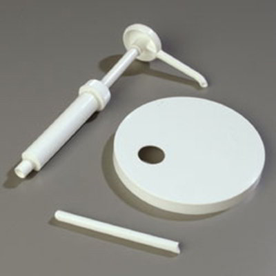 "Carlisle 38310160P Condiment Pump & Lid Set - 6.31"" Lid, Plastic, White"