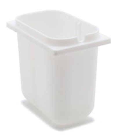 Carlisle 38508 2-1/2-qt Fountain Jar - Notched, Polyethylene, White