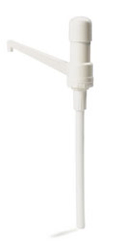 Carlisle 38600R Condiment Pump - Fixed Nozzle, Plastic, White