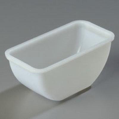 """Carlisle 38700P Condiment Pint Insert - 5-11/16x3x2-5/8"""" Polyethylene, Clear"""