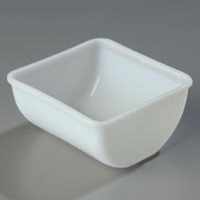 "Carlisle 38700Q Condiment Quart Insert - 5-15/16x5-1/2x2-7/8"" Polyethylene, Clear"