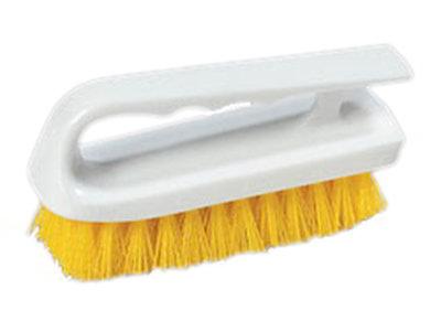 "Carlisle 4002404 6"" Bake Pan Lip Brush - Poly/Plastic, Yellow"