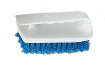 "Carlisle 4002414 6"" Bake Pan Lip Brush - Poly/Plastic, Blue"