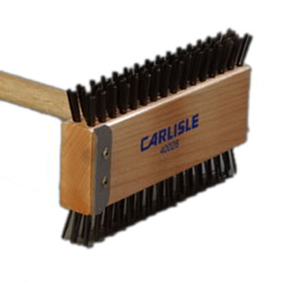 "Carlisle 4002600 30-1/2"" Broiler Master Brush - Carbon Steel/Wood"
