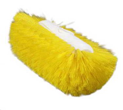 "Carlisle 4004304 9-1/2"" Tank/Kettle Brush Head - Nylon/Plastic, Yellow"
