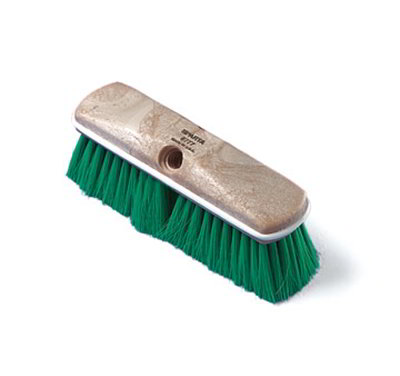 Carlisle 4005025 10-in Truck & Wall Brush Head w/ Green Nylex Bristles, Tan