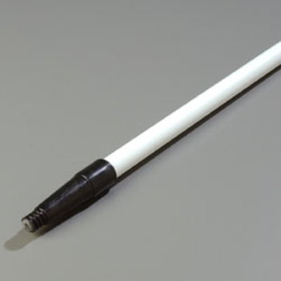 "Carlisle 4022002 60"" Handle - Threaded/Tapered, Fiberglass, White"