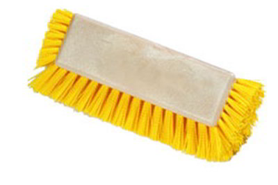 "Carlisle 4042200 10"" Dual Surface Floor Scrub Brush Head - Poly/Plastic, Yellow"