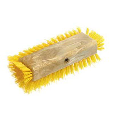 "Carlisle 4042205 10"" Dual Surface Floor Scrub Brush Head - Poly/Plastic, Red"