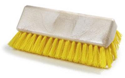 "Carlisle 4042304 10"" Hi-Lo Floor Brush Head - Crimped Synthetic Bristles, Poly, Yellow"