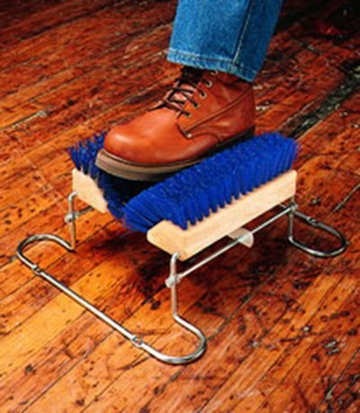 "Carlisle 4042414 10"" Boot 'N Shoe Brush - Blue"