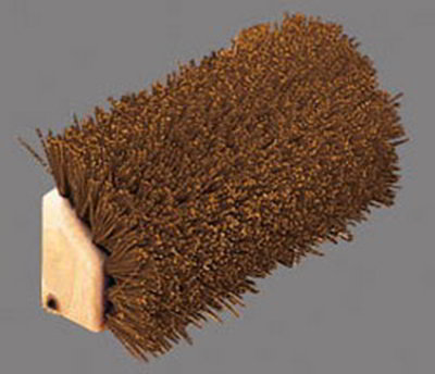 "Carlisle 4042501 10"" Boot 'N Shoe Brush - Brown"