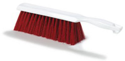 "Carlisle 4048005 13"" Counter/Bench Brush - Poly/Plastic, Red"