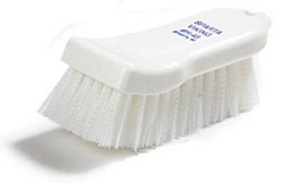"Carlisle 4052102 Cutting Board Brush - 6x2-1/2"" White"