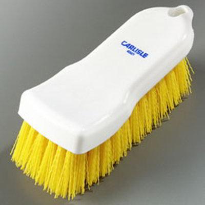 "Carlisle 4052104 Cutting Board Brush - 6x2-1/2"" White/Yellow"
