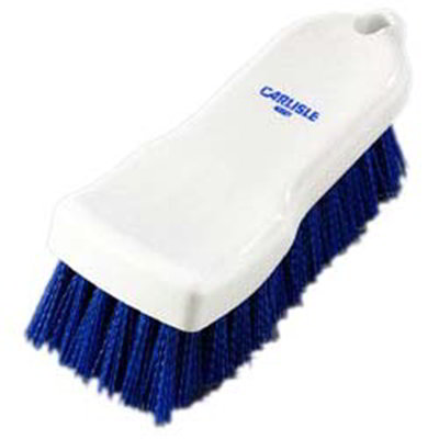 "Carlisle 4052114 Cutting Board Brush - 6x2-1/2"" White/Blue"