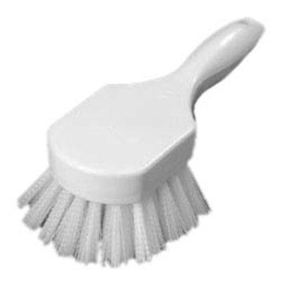 """Carlisle 4054102 8"""" Utility Scrub Brush - Angled, Poly, White"""