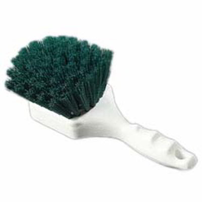 "Carlisle 4054109 8"" Utility Scrub Brush - Angled, Poly, Green"