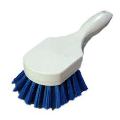 """Carlisle 4054114 8"""" Utility Scrub Brush - Angled, Poly, Blue"""